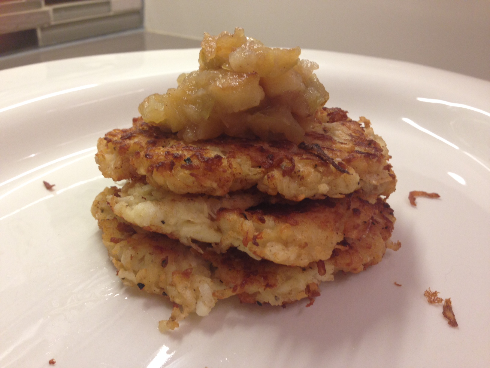 Veg with an Edge » Low carb latkes (made from daikon ...