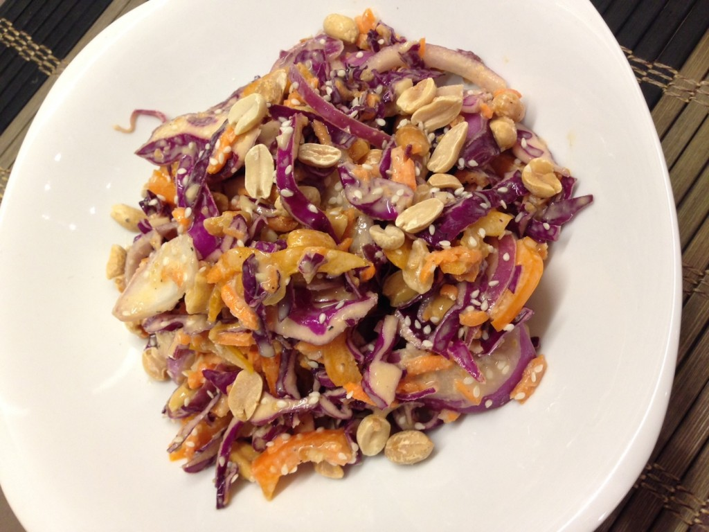 ... with an Edge » Peanut purple cabbage and carrot coleslaw (raw vegan